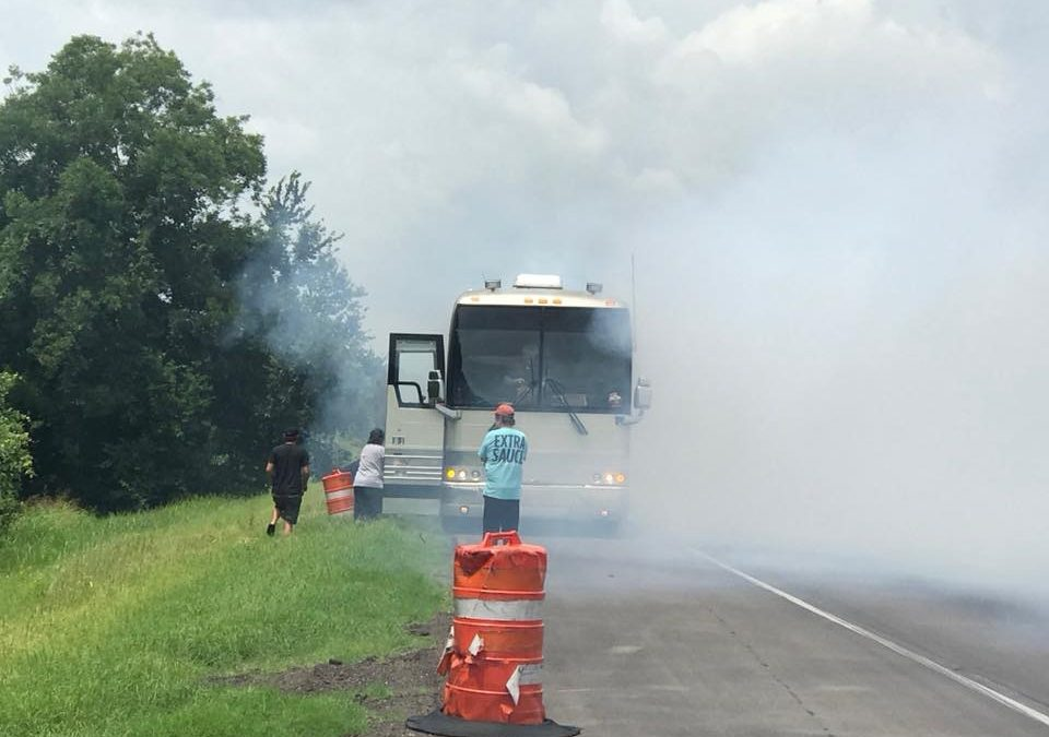 Things Heat Up for Country Group Shenandoah as New Single… and Tour Bus Catch Fire